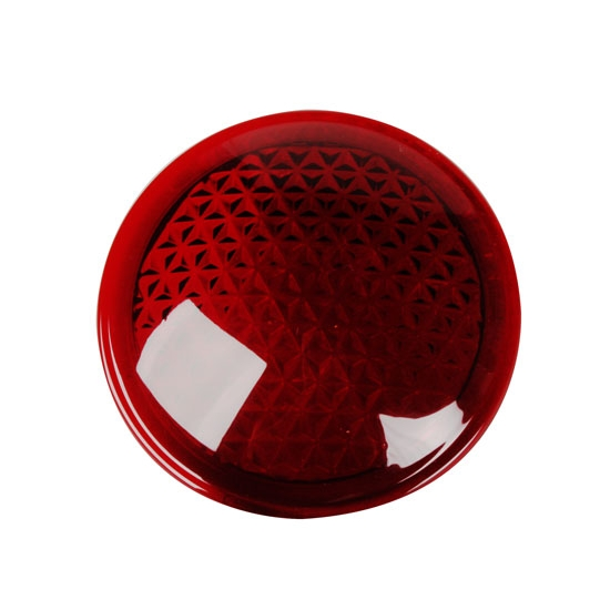 Red Cowl Light Lens, 3 Inch