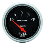 Auto Meter 3514 Sport-Comp Air-Core Electric Fuel Level Gauge, 2-5/8