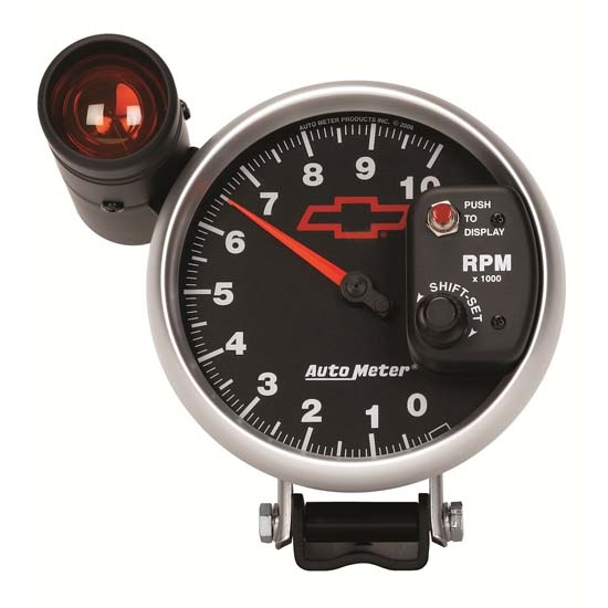 Auto Meter 3699-00406 GM Black Air-Core Pedestal Tachometer Gauge