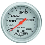 Auto Meter 4631 Ultra-Lite Mechanical Water Temperature Gauge, 2-5/8