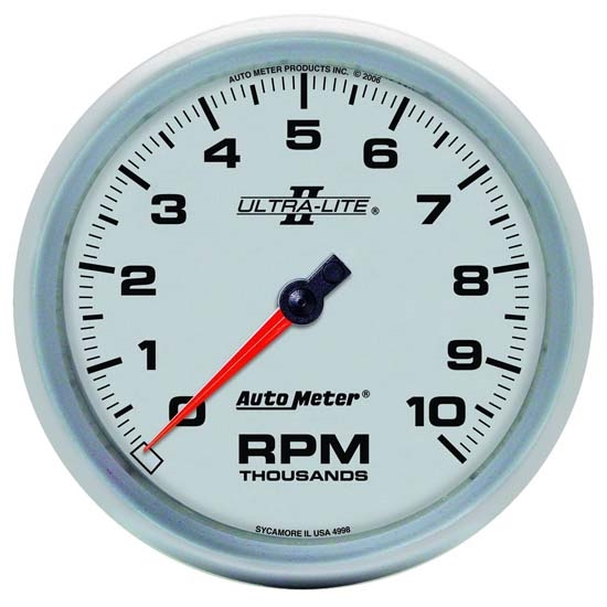 Auto Meter 4998 Ultra-Lite II Air-Core In-Dash Tach, 10k RPM, 5 Inch