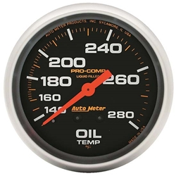 Auto Meter 5441 Pro-Comp Mechanical Oil Temperature Gauge, 2-5/8 Inch