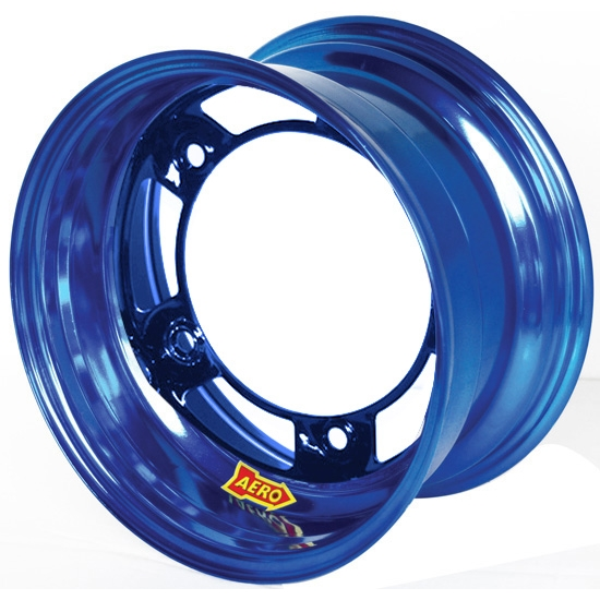 Aero 51-900540BLU 51 Series 15x10 Wheel, Spun 5 on WIDE 5, 4 Inch BS