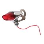 Round Pony Light, Single Filament Bulb, Red Lens