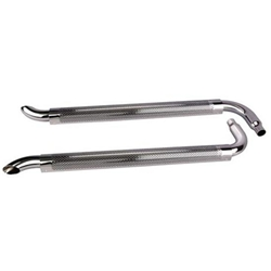 Chrome Side Exhaust Pipes w/ Mufflers, 80 Inch