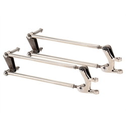 Speedway 1932-1934 Ford Front Four Bar Kit - Stainless Steel