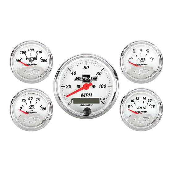Auto Meter 1302-00408 Chevrolet Five Gauge Set