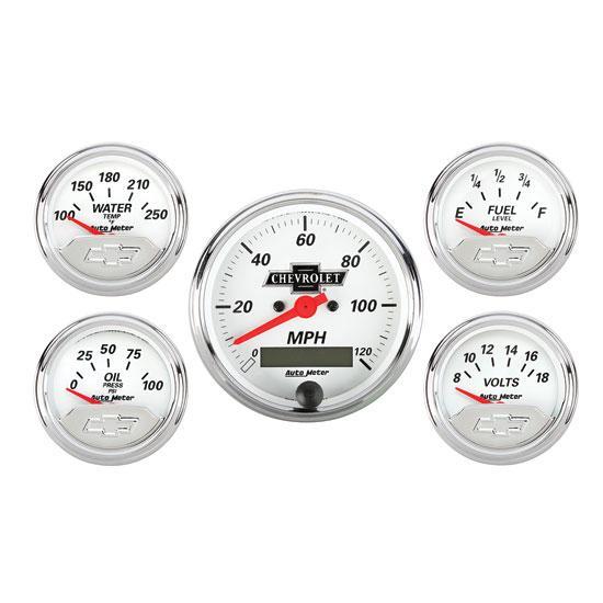 Car Gauges Set : Auto meter chevrolet five gauge set ebay