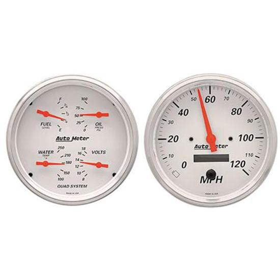 Auto Meter 1303 Arctic White Quad Gauges