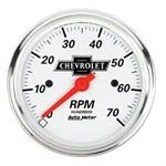 Auto Meter 1398-00408-DOMED Chevrolet 3-1/8 Inch Tachometer