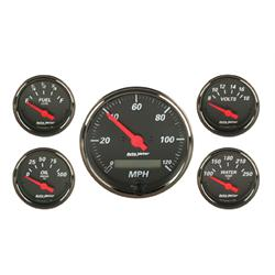 Auto Meter 1402 Designer Black Gauge Set, Electric Speedo