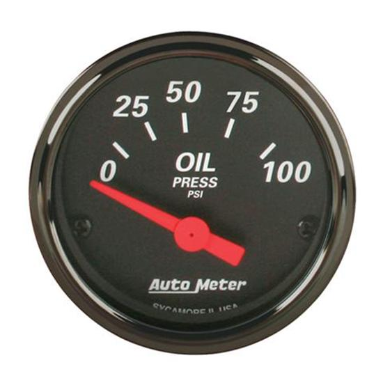 Auto Meter 1427 Black Electric Oil Pressure Gauges