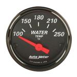 Auto Meter 1437 Black Electric Water Temperature Gauge