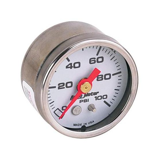 Auto Meter 2177 1.5 Inch Hi-Vibration Pressure Gauge, 0-100 PSI