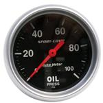 Auto Meter 3421 Sport-Comp Mechanical Oil Pressure Gauge, 100 PSI