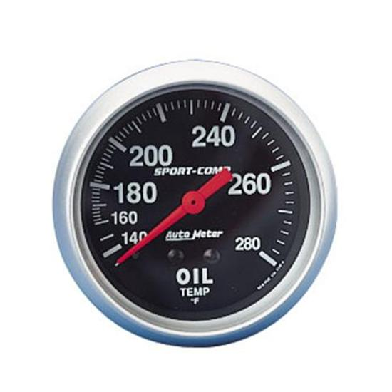 Auto Meter 3441 Sport-Comp Mechanical Oil Temperature Gauge, 2-5/8 In.