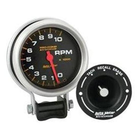 Auto Meter 6601 Pro-Comp 3-3/4 Inch Tach with Remote Recall