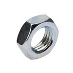 Steel Jam Nut, 3/8 Inch-24 Fine Thread, Zinc Coated