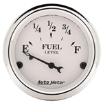 Auto Meter 1604 Old-Tyme White Air-Core Fuel Level Gauge, 2-1/16 Inch