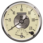 Auto Meter 2090 Prestige Antique Ivory Air-Core Tach/Speedometer Gauge