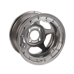 Bassett 38SH3SL 13X8 Inertia 4on100mm 3 Inch BS Silver Beadlock Wheel
