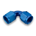 Earls 935106ERL Blue 90 Degree -6 AN Female to Female Swivel Adapter