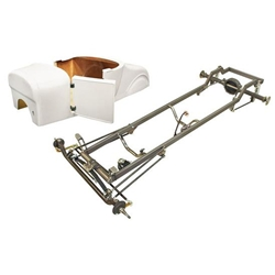 Deluxe &#39;27 T-Bucket Frame Kit w/ Deluxe Body, Unchanneled Floor