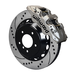Wilwood 140-13582-DN, AERO6 Brake Kit, 14 In, Nickel Plate, Drilled