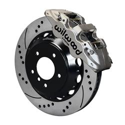 Wilwood 140-13582-DN, AERO6 Brake Kit, 14 In, Nickel Plate, Drilled