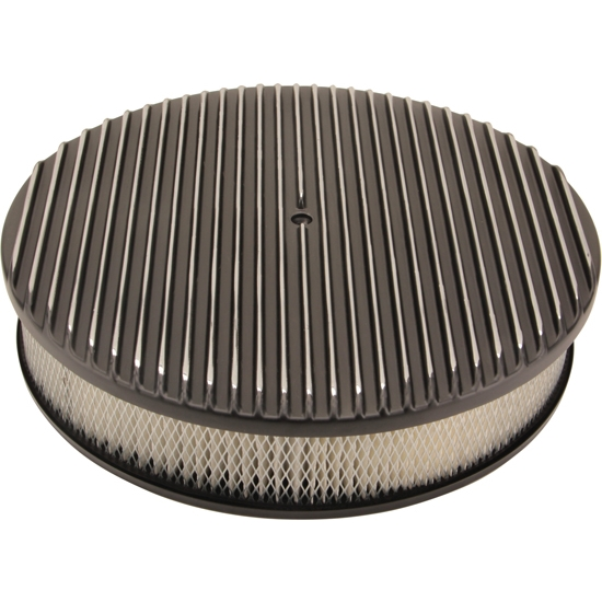Round Air Cleaners For Tractors : Inch fully finned round air cleaner set black aluminum