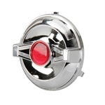 Pedal Car Parts, Chrome Hub Cap 2-Bar/AMF
