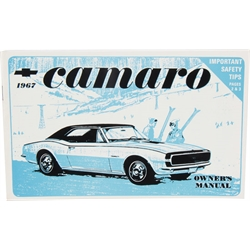 Jim Osborn 1967 Camaro Owners Manual