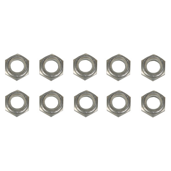 1/2 Inch Aluminum Nylock Bolt Nuts, 10 Pack