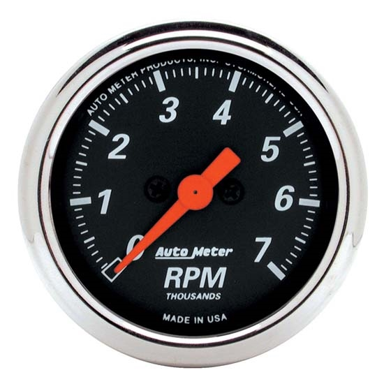 Auto Meter 1477 Designer Black Air-Core In-Dash Tachometer Gauge