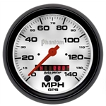 Auto Meter 5881 Phantom Air-Core GPS Speedometer, 140 MPH, 5 Inch