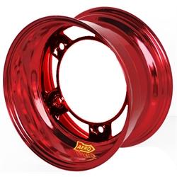 Aero 58-980530RED 58 Series 15x8 Wheel, SP, 5 on WIDE 5 BP, 3 Inch BS