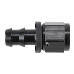 Black Socketless Straight Push-On Hose End, -10 AN