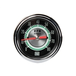 Stewart Warner 531CC Green Line 8,000 RPM Tachometer, 3-3/8 Inch