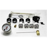 Garage Sale - Omega Kustom 911053 White 5-Gauge Set, Mechanical Speedometer, 3-3/8