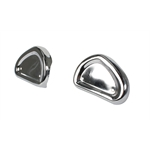 Pedal Car Parts, Atomic Missle Engine Intake Covers, Chrome