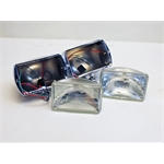 Garage Sale - Rectangular Chrome Headlights, Standard Bulb