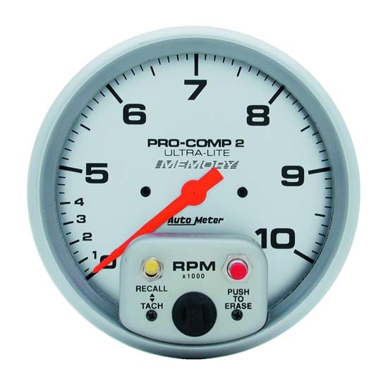 Auto Meter 4499 Ultra-Lite Air-Core In-Dash Tach, 10k RPM, 5 Inch