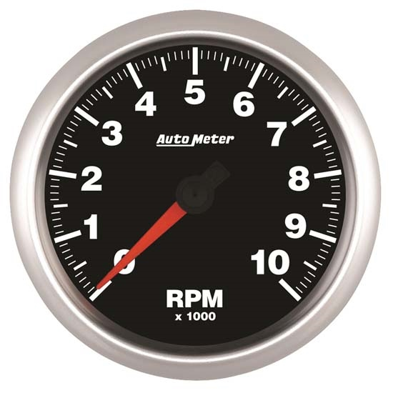 Auto Meter 5697 Elite Air-Core In-Dash Tachometer Gauge, 3-3/8 Inch