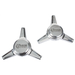 Rocket Racing Wheels RS1-F101 Polished Flat Angle Spinners, Pair