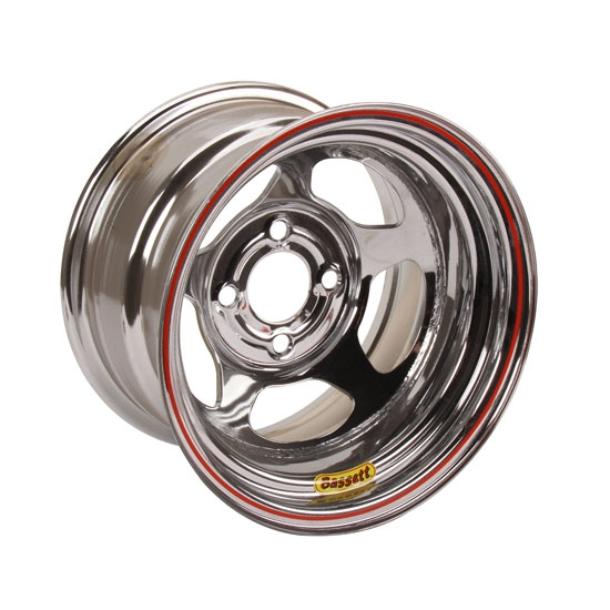 Bassett 37SH3C 13X7 Inertia 4 on 100mm 3 Inch Backspace Chrome Wheel