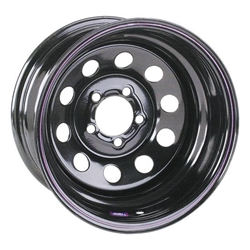Black Circle Track 15 Inch Wheel, 15x7, 5 on 4-1/2, Non-Beadlock