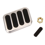 Lokar BFG-6013 Billet Aluminum XL Series Brake Pedal Pad w/Rubber