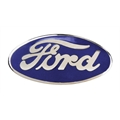 Blue Porcelain Ford Radiator Emblem for 1932 Car, 1932-35 Pickup