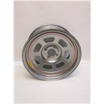 Garage Sale - Bassett 57RH4S 15X7 Dot D-Hole 4 on 100mm 4 In Backspace Silver Wheel