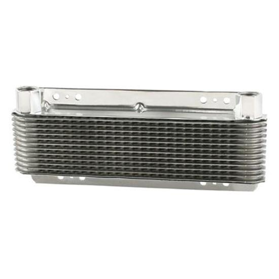 B&M 70265 Super Cooler Polished Aluminum Transmission Oil Cooler